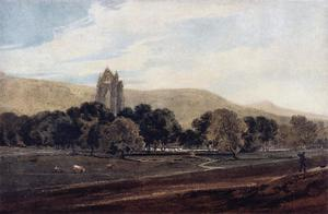 Distant View of Guisborough Priory, Yorkshire