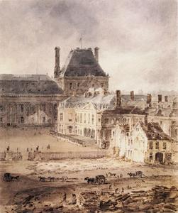 Paris. Part of the Tuileries and the Louvre
