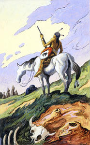 Indian and White Horse