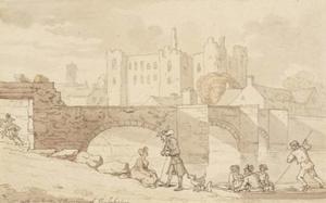 Castle and Bridge, Haverfordwest, Pembrokeshire