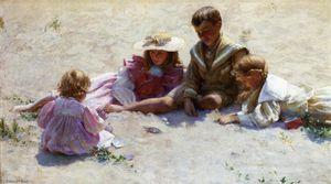 Children by the Seashore