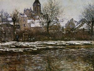The Church at Vetheuil, Snow