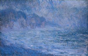 Cliffs at Pourville, Rain