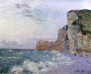 Cliffs in Normandy - Evening