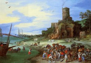Coastal Landscape with the Tomb of Scipion