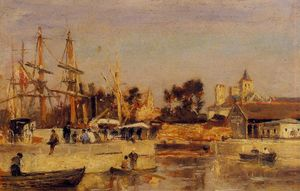 A Corner of the Port, Caen