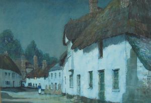 Cottages in the Moonlight