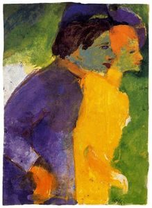 Couple, Yellow and Violet