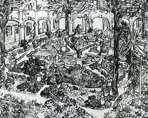 The Courtyard of the Hospital of Arles