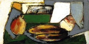 Cubist Still LIfe with Pears and Bananas