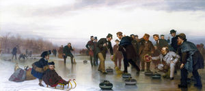 Curling, - A Scottish Game, at Central Park