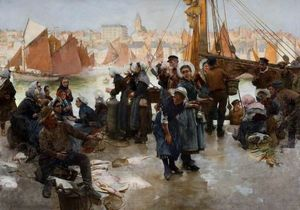 The Departure of the Fishing Fleet, Boulogne
