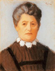 Elderly Lady with Lace-collar