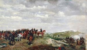 The Emperor Napoleon III at the Battle of Solferino