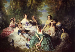Empress Eugenie Surrounded by her Ladies in Waiting