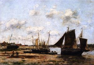 Étaples, Low Tide, Beached Boats