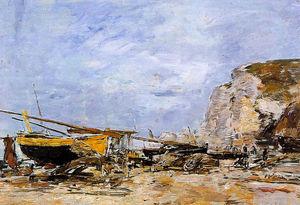 Etretat, Boats Stranded on the Beach