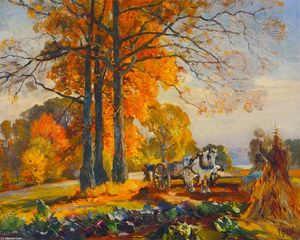 Farmers with Horse Cart