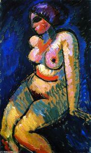 Female Nude, Sitting