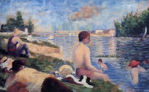Final Study for Bathing at Asnieres