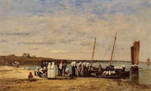 Fishermen of Kerhor Receiving a Blessing at Plougastel