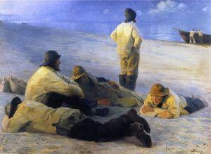 Fishermen on Skagens Beach