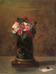 Flowers in a Japanese Vase