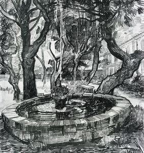 Fountain in the Garden of Saint-Paul Hospital