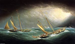 Four Yachts in a Storm