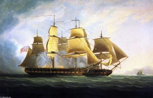 The Frigate H.M.S. Sea Horse'' Capturing the French Frigate ''La Sensible''''