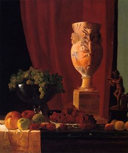 Fruit, Vase and Statuette