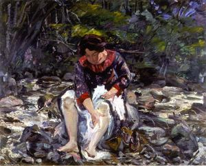 Girl in the Brook (Charlotte Corinth)