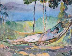 Girl in a hammock in Cannes