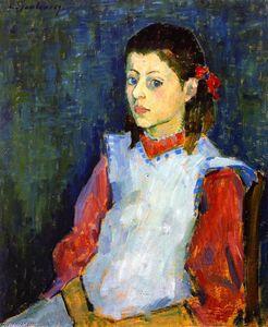 Girl in White Apron