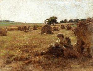Harvest, Mother Breastfeeding, Three Figures