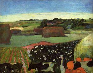 Haystacks in Britanny (also known as The Potato Field)