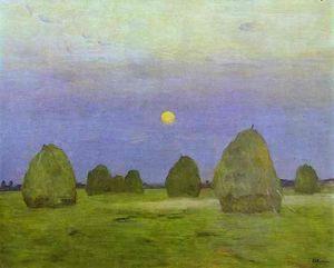 Haystacks. Twilight
