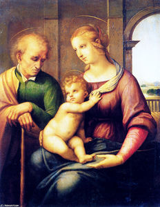 Holy Family with St. Joseph (also known as Madonna with Beardless St. Joseph)