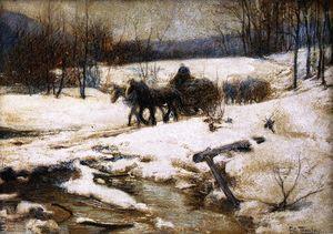 hippomobile chariots  dans  Hivernal