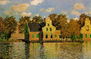 Houses on the Zaan River at Zaandam