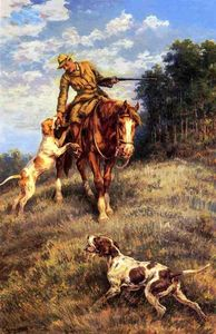 A Hunter and His Dogs