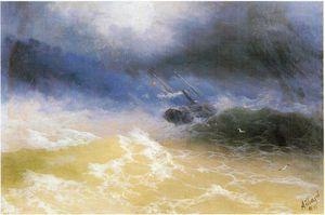 Hurricane on a sea