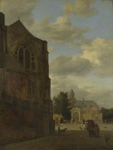 An Imaginary View of Nijenrode Castle and the Sacristy of Utrecht Cathedral