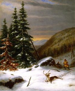 Indians Hunting a Caribou