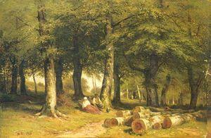 In grove