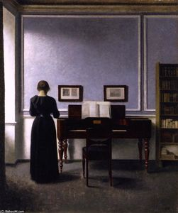 Interior: with Piano and Woman in Black