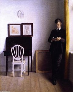 Interior wit a Young Man Reading
