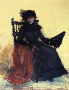 A Lady in Black (also known as The Red Shawl)
