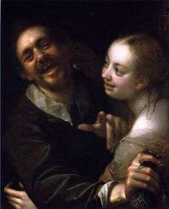 Laughing Couple with a Money Purse