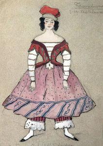 Ballerina. Costume design for Tamara Karsavina